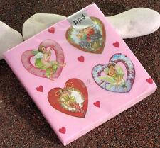 PPD Papier Servietten Papier 20 Stück Glitter Hearts (Herzen)