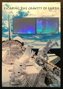 2000 Scott #3411, $3.20, ESCAPING THE GRAVITY OF EARTH  - Mint NH - Sheet of 2