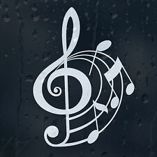Treble Clef Around The Notes Car Graphic Decal Vinyl Adhesive Music Sticker