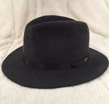 New Bailey Of Hollywood Men's Fedora Hat 100% Wool Lined Charcoal Large