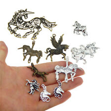10 Mixed Metal Alloy Unicorn Charms Pendants DIY Jewelry Making Accessories