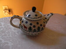 Boleslawiec Polish Pottery Teapot Christmas Tree Deer Moose 32oz  NEW