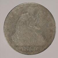 1853 50c LIBERTY SEATED HALF DOLLAR WITH ARROWS & RAYS LOT#H106