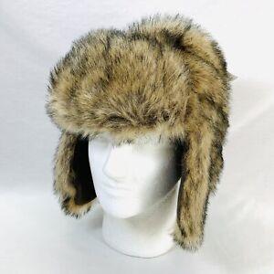 Faux Fur Bear Trapper Winter Hat Fleece Lined Gap Kids Size L / XL New