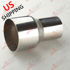 """2.5"""" TO 3"""" INCH WELDABLE TURBO/EXHAUST STAINLESS STEEL REDUCER ADAPTER PIPE US"""