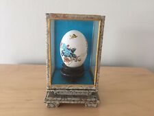 Collectable Rare Decorative Oriental Hand Painted Quail Egg in Glass Display 7