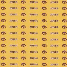 "University of Iowa Hawkeyes YELLOW NCAA Scrapbook Paper 12x12"" Sports Solution"