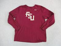 Nike Florida State Semninoles Shirt Adult 2XL XXL Red Gold Long Sleeve Mens