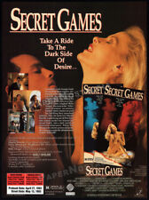 SECRET GAMES__Original 1992 Trade print AD promo__DELIA SHEPPARD__MARTIN HEWITT