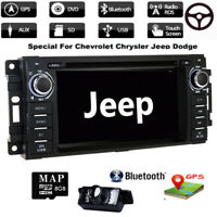 "6.2"" Car DVD GPS Navigation Head Unit Stereo Radio For Jeep Wrangler 2007-2016"