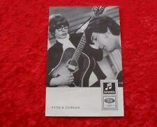 Peter & Gordon-ORIGINALE COLUMBIA AUTOGRAFO MAPPA CARTA CARD DRW 4045d (Beatles)