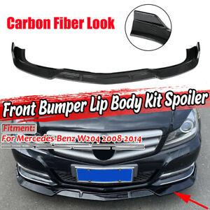 For Mercedes Benz W204 C250 C300 2008-2014 Front Bumper Lip Splitter Spoiler