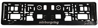 2x 3D NURBURGRING LICENCE NUMBER PLATE SURROUNDS HOLDER RACING CAR, Sport