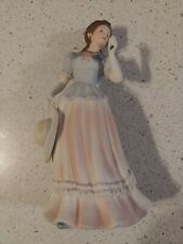 Home Interior Lady Camille Figurine Statue Homco #1452 Victorian Woman w/Hat