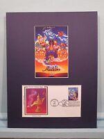 Walt Disney's Aladdin & First Day Cover of the Aladdin Stamp