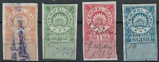 Latvia (Lettland) revenue stamps 4 pcs., 1919 Edition 1,