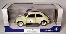 """SOLIDO 1/18: s1800505 VW ESCARABAJO 1303 """"Herbie"""" racer #53 - Blanco"""