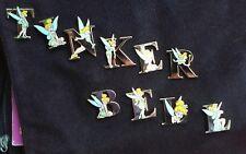 UK Fantasy Tinker Bell Gold Letters 10 Pin Set Tinkerbell