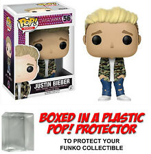 Funko POP! Rocks ~ JUSTIN BIEBER VINYL FIGURE w/Protector Case ~ Rock Stars