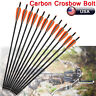 "16-22""inch Crossbow Bolt Hybrid Carbon Arrows Hunting Outdoor Half Moon Nock US"