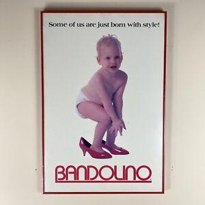Vintage 1987 Bandolino Shoes Baby High Heels Style Promotion Framed Art Print