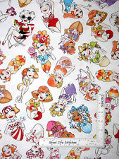 Loralie Sweetie Fabric - Candy Sweet Lady Toss White 24137 Loralie Harris - Yard