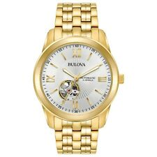Bulova 97A130 Automatic Goldtone Stainless Steel 42mm Men's Watch - Silver Dial