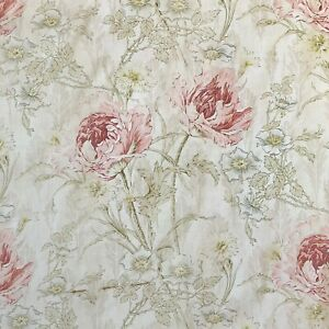 WOW Large Scale French Art Nouveau curtain 1900 Poppy floral pattern