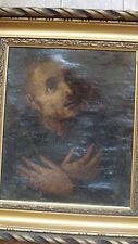 Tableau ancien XVIIe Saint François d'Assise 2 Vanitas école espagnole Román ?
