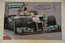 Nico Rosberg signed 20x30cm Foto Autogramm / Autograph  in Person . WM 2016 ..