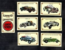 Lucky Strike Vintage Cars Match Label Stamp Card Set Jordan Cord Auburn Stutz