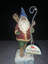 "Jim Shore Heartwood Creek Christmas Traveler 7.75"" Santa Figurine 4005448"