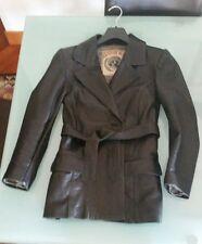 giacca giubbotto donna vera pelle nero