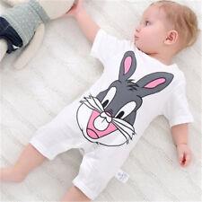 Toddler Baby Kids Girls Boy Infant Romper Jumpsuit Bodysuit Cotton White Cloth
