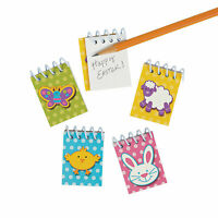 Easter Mini Spiral Notepads - Stationery - 48 Pieces