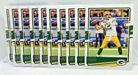 Aaron Rodgers - 10 Card Lot 2020 Panini Donruss Base Card #103 Green Bay Packers