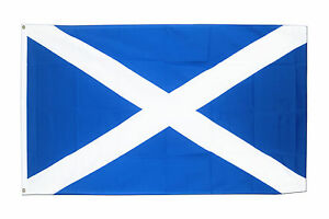 St Andrews Cross FLAG 5' x 3' Navy Blue Saltire Scotland Scottish Flags free del