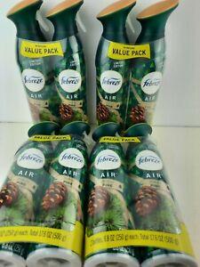 Febreze Odor-Eliminating Air Freshener Spray Fresh-Cut Pine-LOT OF 4- 2 PACKS