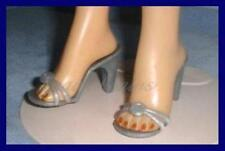 "2-1/8""x7/8"" SILVER High Heel Sandals Doll SHOES for Miss Revlon CISSY Dollikins"