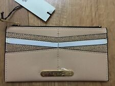 RIVER ISLAND Cream snake print card holder zip purse - Cream NEW