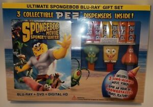 BRAND NEW The Spongebob Movie Sponge out of Water Ultimate Gift Set Wal-Mart PEZ