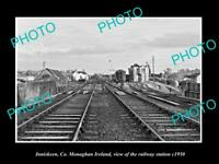 OLD LARGE HISTORIC PHOTO OF INNISKEEN MONAGHAN IRELAND THE RAILWAY STATION 1950
