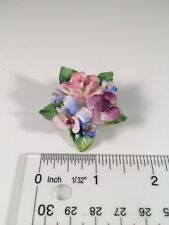 Crown Staffordshire England Floral Pin/ Brooch