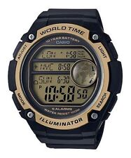 Casio AE3000W-9AV Men's Black Resin Band 5 Alarms World Time Chronograph Watch