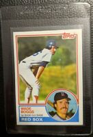 1983 TOPPS #498 WADE BOGGS ROOKIE CARD RC BOSTON RED SOX HOF