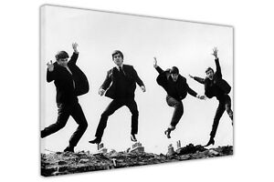 THE BEATLES JUMPING PHOTO SHOOT CANVAS PRINTS WALL ART HOME DECORATION PICTURES
