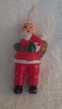 """Vintage Santa Claus Ornament Plastic Hong Kong No 804 4"""" Tall"""