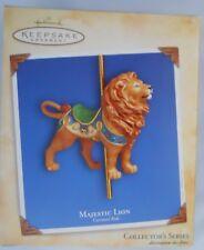 Hallmark Carousel Ride Series #1 Majestic Lion Ornament 2004 First Issue Mib