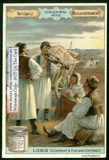 Hungarian Violin Ungaran Geige Hongrie Violon 1898 Trade Ad Card