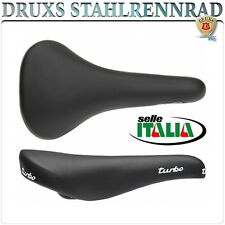 Selle ITALIA SELLA SADDLE TURBO NERO BLACK BICICLETTA DA CORSA ROAD BIKE VINTAGE EROICA